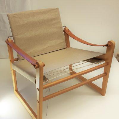 Safaristol - Ikea - många år på nacken men lika modern idag som när den tillverkades. Ny bärande väv och som ny!